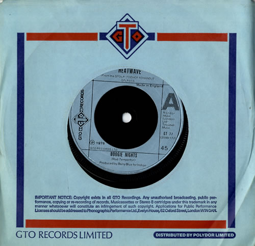 "Heatwave Boogie Nights 7"" vinyl single (7 inch record) UK HAQ07BO303726"