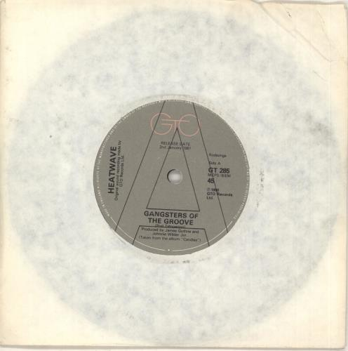 "Heatwave Gangsters Of The Groove 7"" vinyl single (7 inch record) UK HAQ07GA734538"
