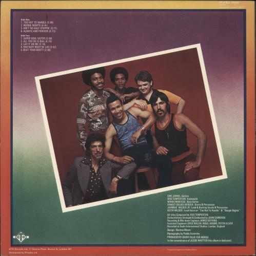 Heatwave Too Hot To Handle - stickered p/s vinyl LP album (LP record) UK HAQLPTO730717