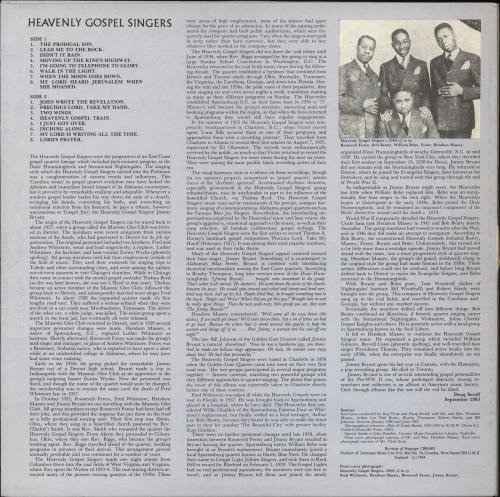 Heavenly Gospel Singers Heavenly Gospel Singers vinyl LP album (LP record) UK Q6YLPHE708857
