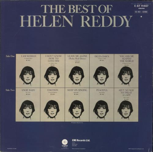 Helen Reddy The Best Of Helen Reddy + Insert UK vinyl LP album (LP record)  (718983)