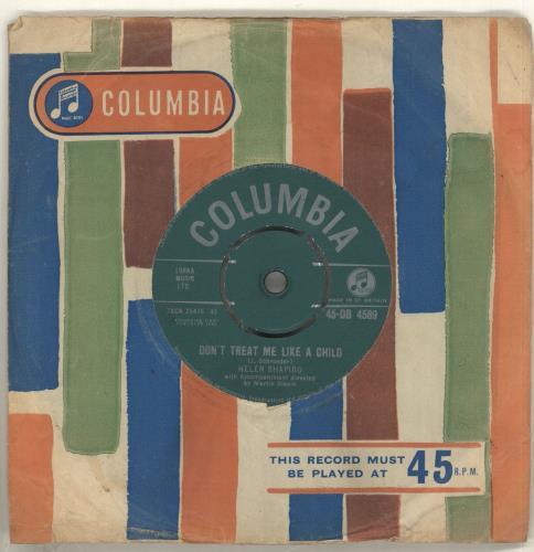 """Helen Shapiro Don't Treat Me Like A Child 7"""" vinyl single (7 inch record) UK HES07DO408358"""
