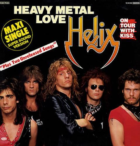 "Helix Heavy Metal Love 12"" vinyl single (12 inch record / Maxi-single) German HLX12HE285053"