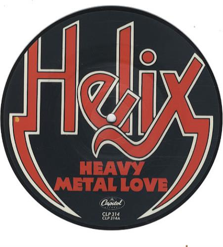 """Helix Heavy Metal Love 7"""" vinyl picture disc 7 inch picture disc single UK HLX7PHE339694"""