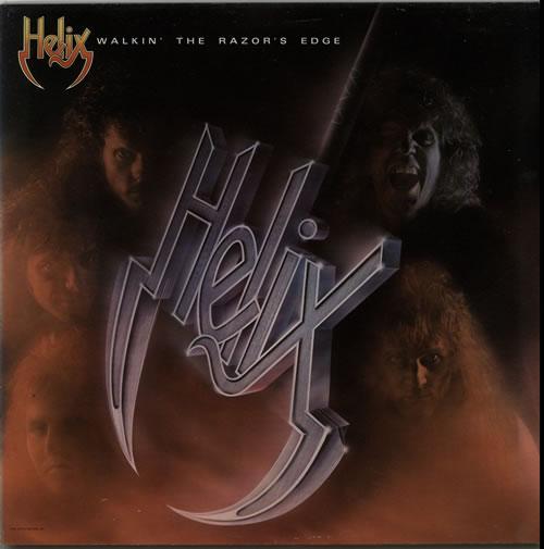 Helix Walkin' The Razor's Edge vinyl LP album (LP record) Dutch HLXLPWA625144