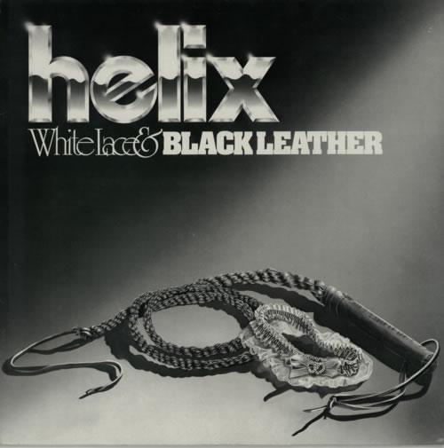Helix White Lace & Black Leather vinyl LP album (LP record) UK HLXLPWH597354