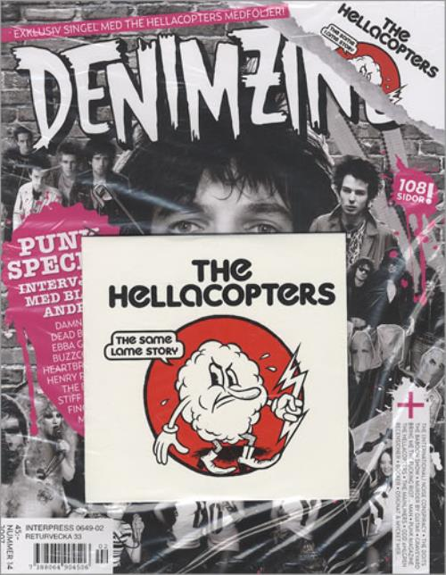 """Hellacopters The Same Lame Story CD single (CD5 / 5"""") Swedish HCPC5TH416430"""