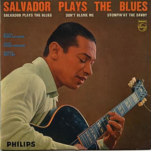 "Henri Salvador Salvador Plays The Blues EP 7"" vinyl single (7 inch record) French HNS07SA308728"