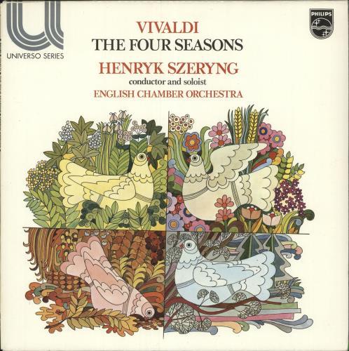 Henryk Szeryng Vivaldi The Four Seasons Uk Vinyl Lp Album