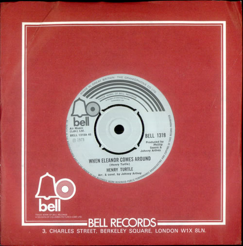 """Henry Turtle When Eleanor Comes Around 7"""" vinyl single (7 inch record) UK HJ507WH519253"""