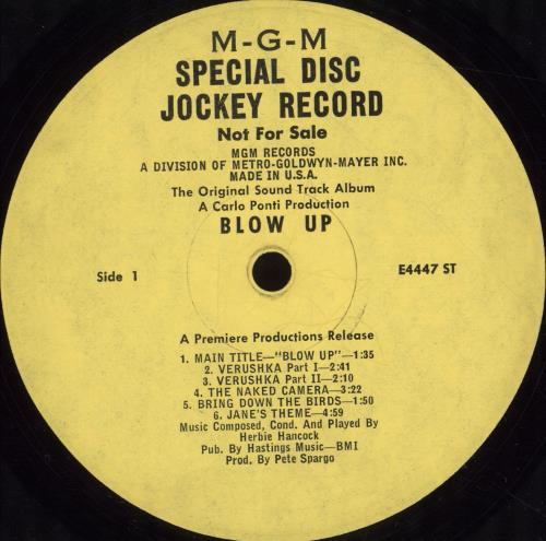 Herbie Hancock Blow-Up - Promo vinyl LP album (LP record) US HHALPBL698987