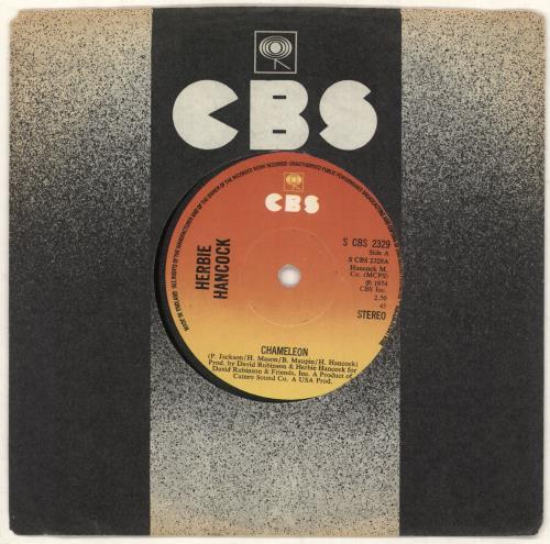 "Herbie Hancock Chameleon 7"" vinyl single (7 inch record) UK HHA07CH728066"