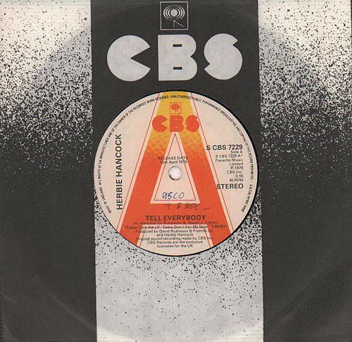 "Herbie Hancock Tell Everybody 7"" vinyl single (7 inch record) UK HHA07TE636819"