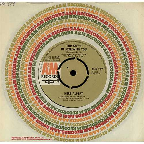 """Herb Alpert This Guy's In Love With You - 4pr 7"""" vinyl single (7 inch record) UK HBA07TH255695"""