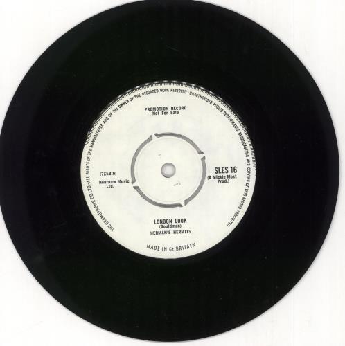 "Herman's Hermits The London Look - Demo 7"" vinyl single (7 inch record) UK HMH07TH722675"