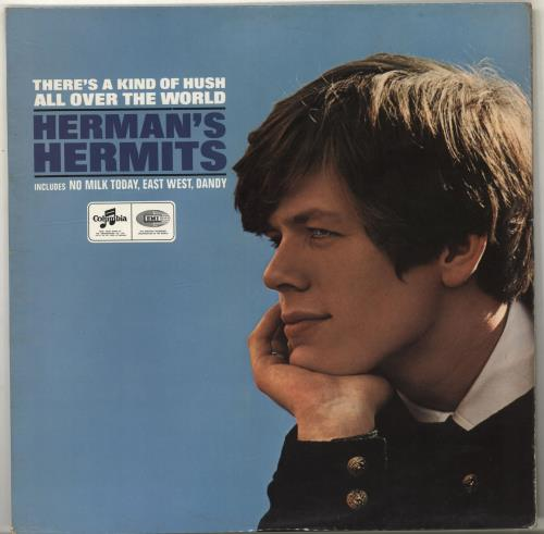 Herman's Hermits There's A Kind Of Hush - Stereo - Blue/black Label vinyl LP album (LP record) UK HMHLPTH703052
