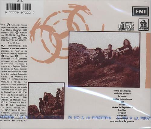Heroes Del Silencio Senderos De Traición CD album (CDLP) Mexican HROCDSE276750