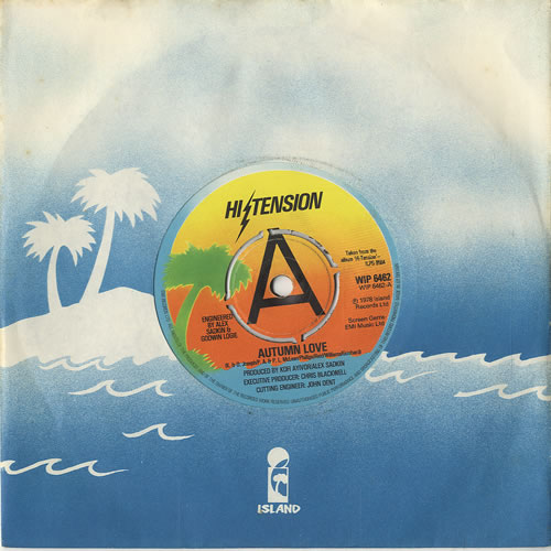 "Hi-Tension Autumn Love 7"" vinyl single (7 inch record) UK H-207AU449974"