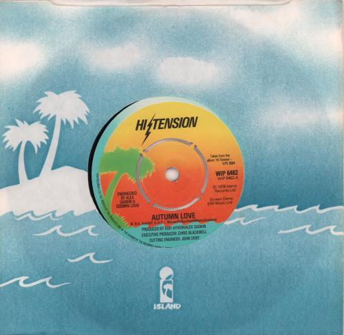 "Hi-Tension Autumn Love 7"" vinyl single (7 inch record) UK H-207AU663911"
