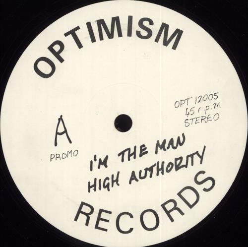 "High Authority I'm The Man 12"" vinyl single (12 inch record / Maxi-single) UK Q8G12IM709422"