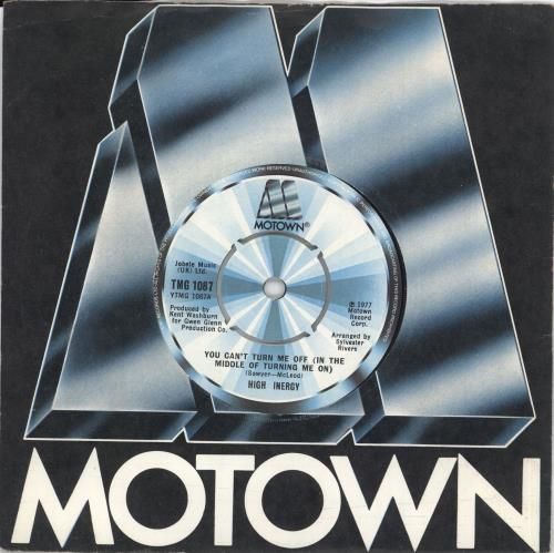 """High Inergy You Can't Turn Me Off (In The Middle Of Turning Me On) 7"""" vinyl single (7 inch record) UK HGI07YO729399"""