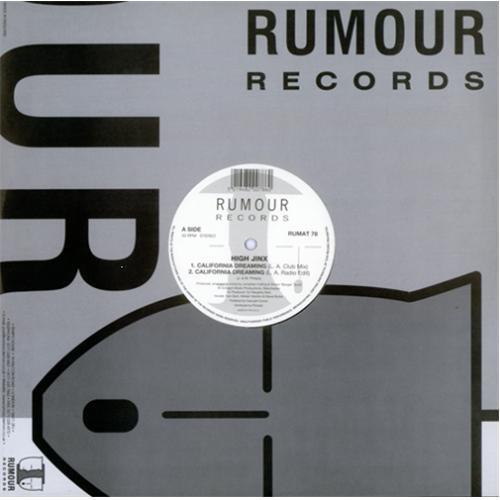 "High Jinx California Dreaming 12"" vinyl single (12 inch record / Maxi-single) UK HCM12CA413818"