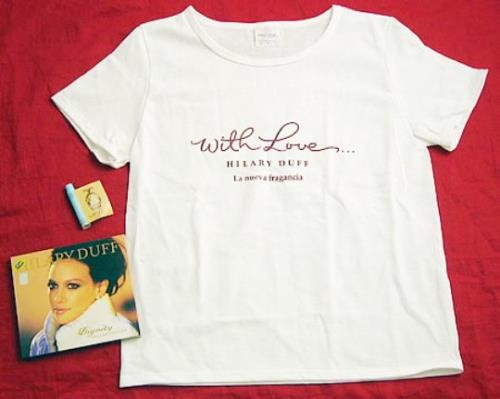 Hilary Duff Dignity + T-shirt & Perfume Sampler 2-disc CD/DVD set Mexican HA-2DDI400546