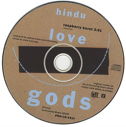 "Hindu Love Gods Raspberry Beret CD single (CD5 / 5"") US HLGC5RA02901"