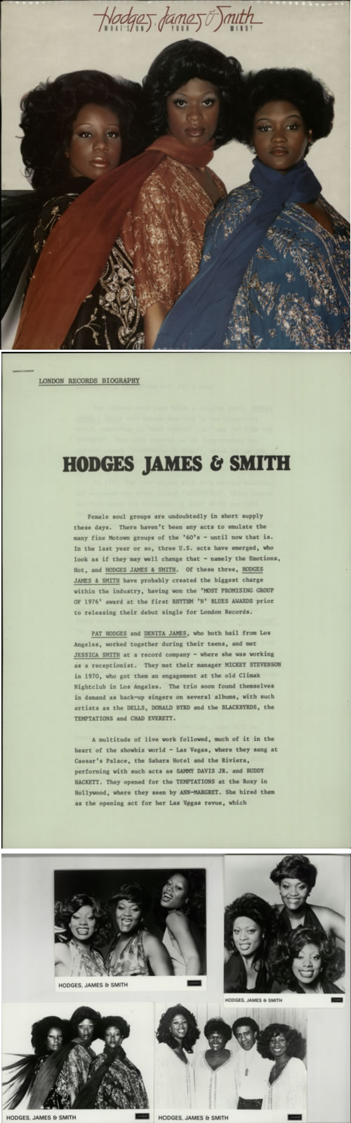 Hodges, James & Smith What's On Your Mind ? media press kit UK HQDKIWH608311