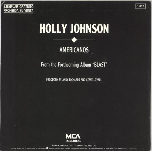 "Holly Johnson Americanos 7"" vinyl single (7 inch record) Spanish HJO07AM06204"
