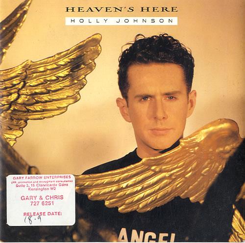 """Holly Johnson Heaven's Here 7"""" vinyl single (7 inch record) UK HJO07HE591489"""