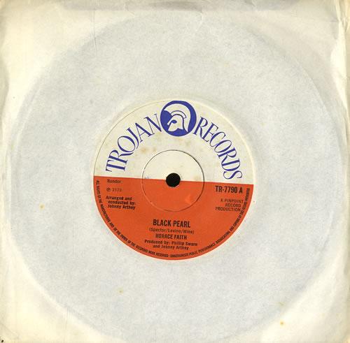 "Horace Faith Black Pearl 7"" vinyl single (7 inch record) UK HS407BL564263"