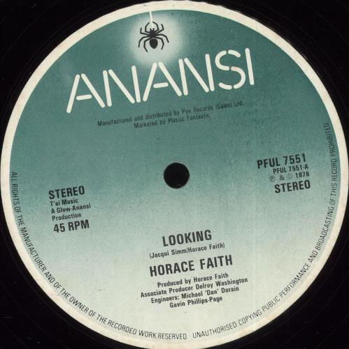 "Horace Faith Looking 12"" vinyl single (12 inch record / Maxi-single) UK HS412LO711168"