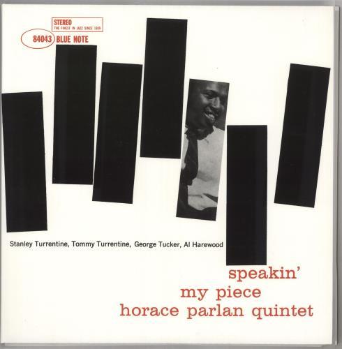 Horace Parlan Speakin' My Piece - 45RPM 180 Gram 2-LP vinyl record set (Double Album) US HPR2LSP728353