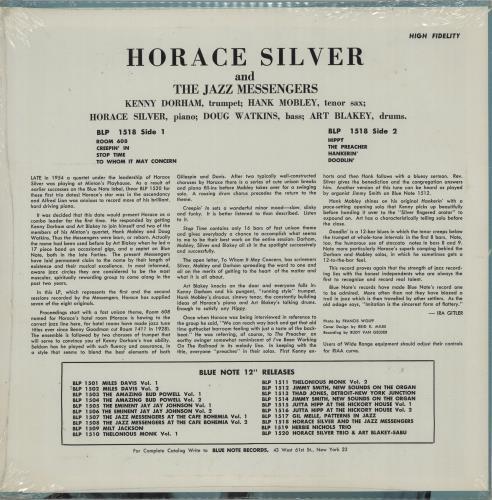 Horace Silver Horace Silver & The Jazz Messengers - Sealed vinyl LP album (LP record) US HAOLPHO660034