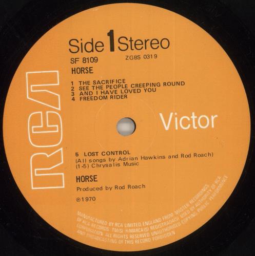 Horse Horse - 1st vinyl LP album (LP record) UK QQSLPHO738320