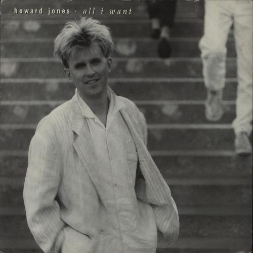 "Howard Jones All I Want 7"" vinyl single (7 inch record) UK HOW07AL677591"