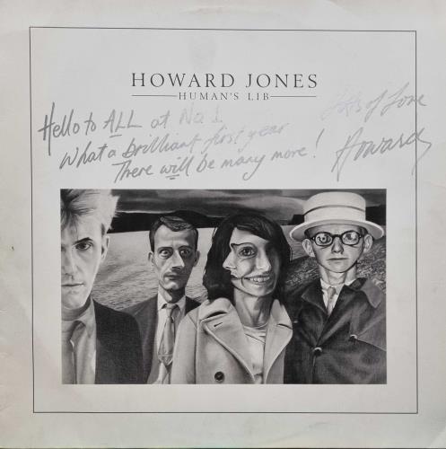 Howard Jones Human's Lib - Autographed vinyl LP album (LP record) UK HOWLPHU576360