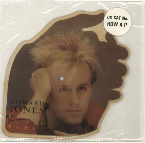 Howard Jones Pearl In The Shell - Stickered sleeve shaped picture disc (picture disc vinyl record) UK HOWSHPE04749