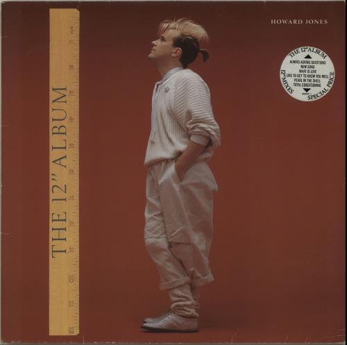 """Howard Jones The 12"""" Album - stickered vinyl LP album (LP record) UK HOWLPTH653049"""