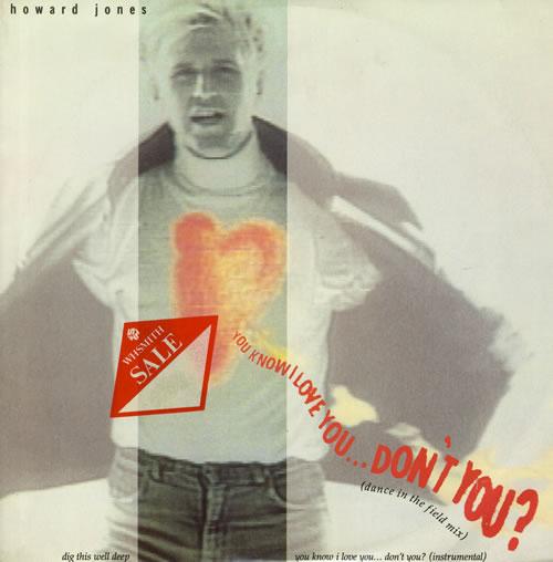 "Howard Jones You Know I Love You Don't You 12"" vinyl single (12 inch record / Maxi-single) UK HOW12YO138502"