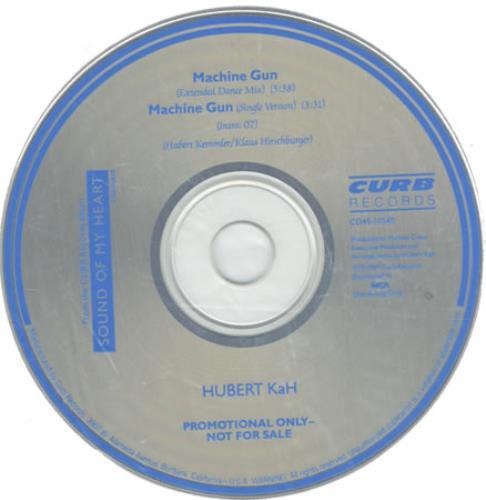 "Hubert Kah Machine Gun CD single (CD5 / 5"") US HUBC5MA66126"