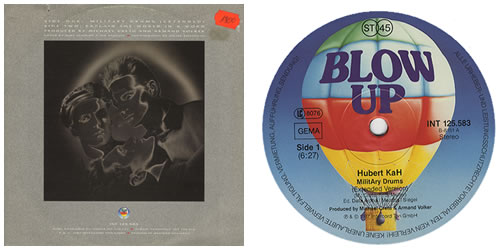 "Hubert Kah Military Drums 12"" vinyl single (12 inch record / Maxi-single) German HUB12MI127628"