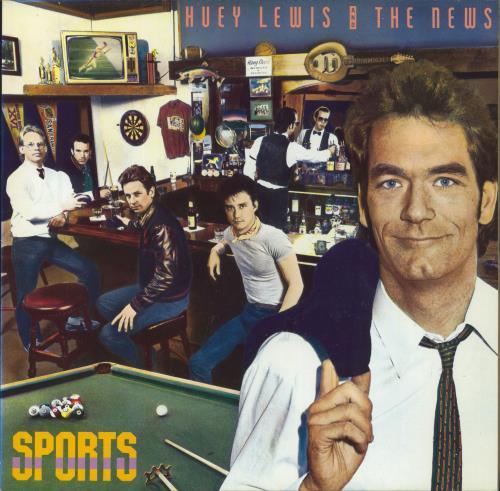 Huey Lewis & The News Sports vinyl LP album (LP record) German HLNLPSP257572
