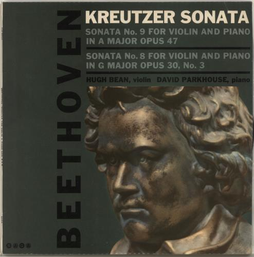 Hugh Bean & David Parkhouse Beethoven: Sonata No. 9 in a Major, Op.47 / Sonata No. 8 in G Major, Op.30, No. 3 vinyl LP album (LP record) UK QWILPBE702117