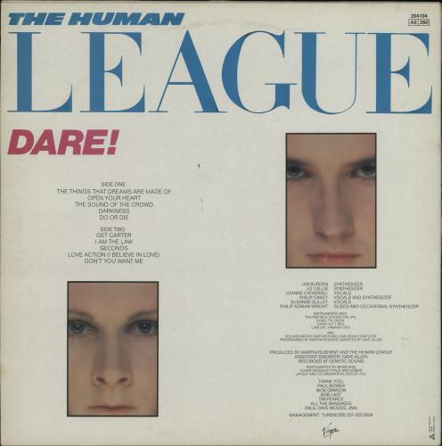 Human League Dare vinyl LP album (LP record) French HUMLPDA764330