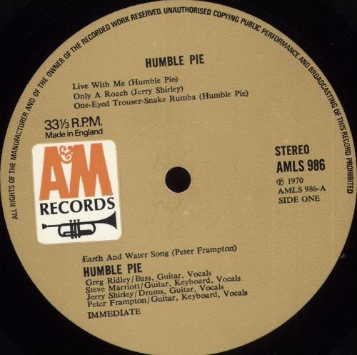 Humble Pie Humble Pie - 1st - EX vinyl LP album (LP record) UK HMBLPHU609460