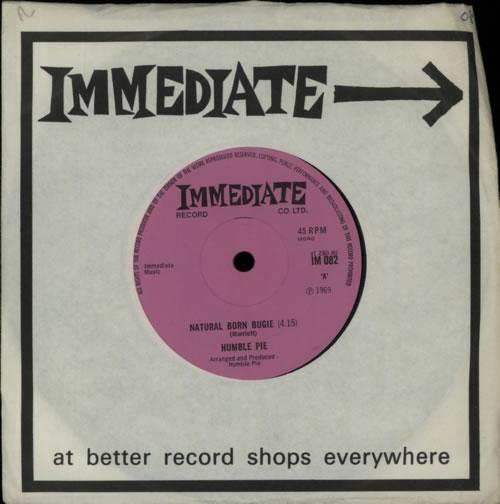 "Humble Pie Natural Born Bugie - Solid 7"" vinyl single (7 inch record) UK HMB07NA576909"