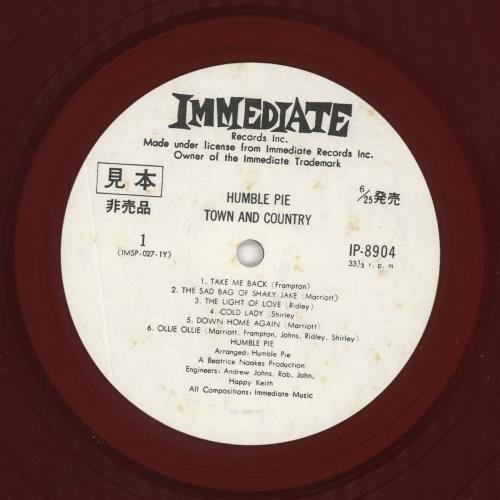 Humble Pie Town And Country vinyl LP album (LP record) Japanese HMBLPTO731019