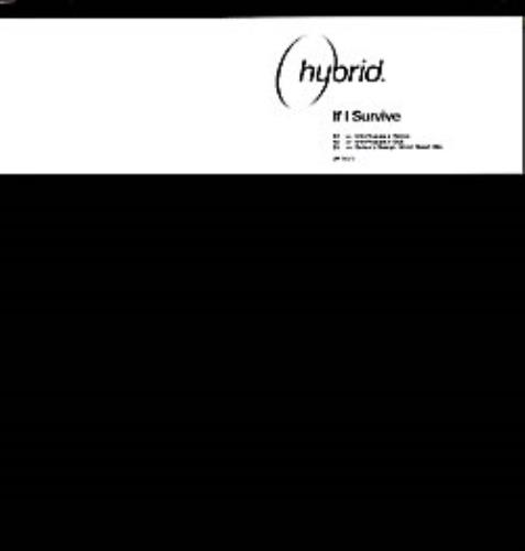 Hybrid If I Survive 2002 Uk 3 Track Promotional 12 Includes Interfearance Remi Dub And Beber S Boleyn West Stand Mix With White Custom